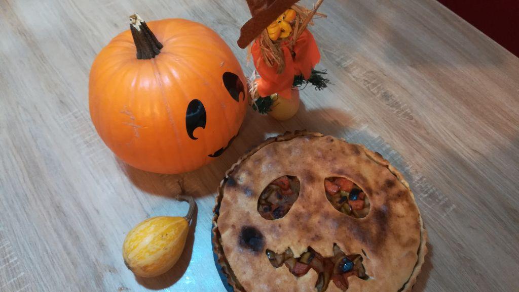 Tartă cu dovleac/Halloween pie